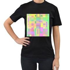 Pastel colorful design Women s T-Shirt (Black)