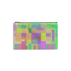 Pastel colorful design Cosmetic Bag (Small)