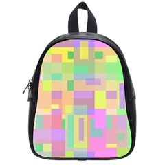 Pastel colorful design School Bags (Small)