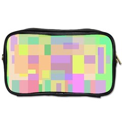 Pastel colorful design Toiletries Bags 2-Side