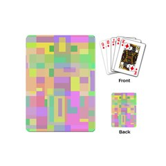 Pastel colorful design Playing Cards (Mini)