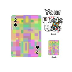 Pastel colorful design Playing Cards 54 (Mini)