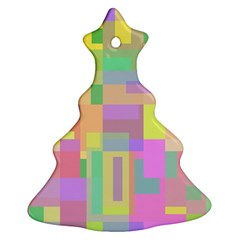 Pastel colorful design Christmas Tree Ornament (2 Sides)