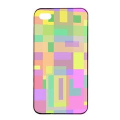 Pastel colorful design Apple iPhone 4/4s Seamless Case (Black)