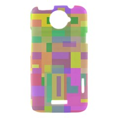 Pastel colorful design HTC One X Hardshell Case