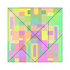 Pastel colorful design Acrylic Tangram Puzzle (6  x 6 )