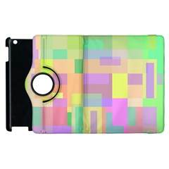Pastel colorful design Apple iPad 3/4 Flip 360 Case