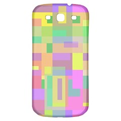 Pastel colorful design Samsung Galaxy S3 S III Classic Hardshell Back Case