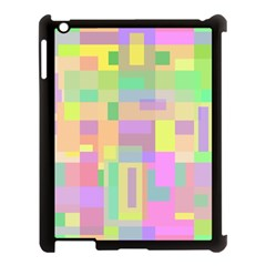 Pastel colorful design Apple iPad 3/4 Case (Black)