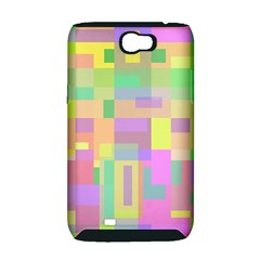 Pastel colorful design Samsung Galaxy Note 2 Hardshell Case (PC+Silicone)