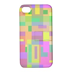 Pastel colorful design Apple iPhone 4/4S Hardshell Case with Stand