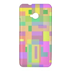 Pastel colorful design HTC One M7 Hardshell Case