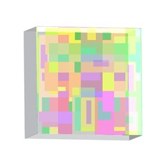 Pastel colorful design 4 x 4  Acrylic Photo Blocks
