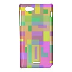 Pastel colorful design Sony Xperia J