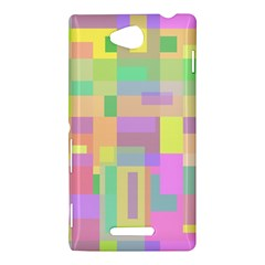 Pastel colorful design Sony Xperia C (S39H)