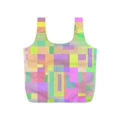 Pastel colorful design Full Print Recycle Bags (S)