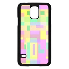 Pastel colorful design Samsung Galaxy S5 Case (Black)