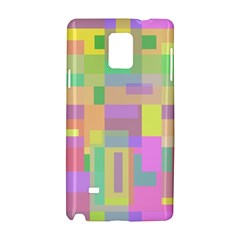 Pastel colorful design Samsung Galaxy Note 4 Hardshell Case