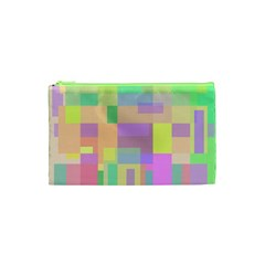 Pastel colorful design Cosmetic Bag (XS)