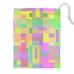 Pastel colorful design Drawstring Pouches (XXL)