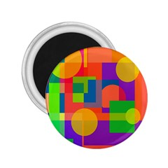 Colorful geometrical design 2.25  Magnets