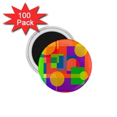 Colorful geometrical design 1.75  Magnets (100 pack)
