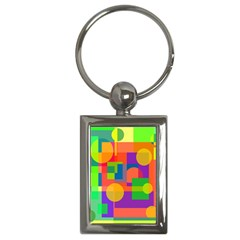 Colorful geometrical design Key Chains (Rectangle)