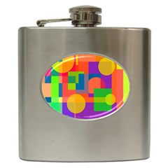 Colorful geometrical design Hip Flask (6 oz)