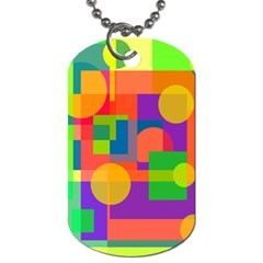 Colorful geometrical design Dog Tag (Two Sides)