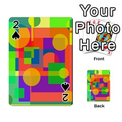 Colorful geometrical design Playing Cards 54 Designs