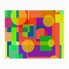 Colorful geometrical design Small Glasses Cloth (2-Side)