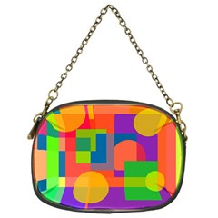 Colorful geometrical design Chain Purses (One Side)