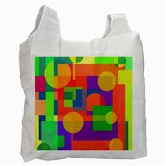 Colorful geometrical design Recycle Bag (One Side)
