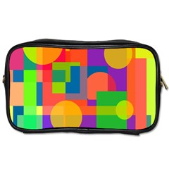Colorful geometrical design Toiletries Bags 2-Side