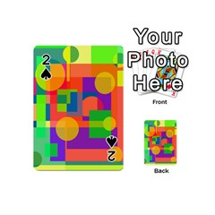 Colorful geometrical design Playing Cards 54 (Mini)