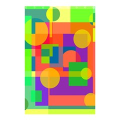 Colorful geometrical design Shower Curtain 48  x 72  (Small)