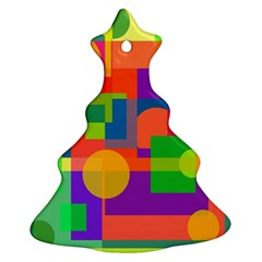 Colorful geometrical design Christmas Tree Ornament (2 Sides)
