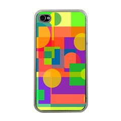 Colorful geometrical design Apple iPhone 4 Case (Clear)