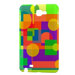 Colorful geometrical design Samsung Galaxy Note 1 Hardshell Case