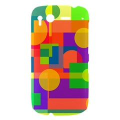 Colorful geometrical design HTC Desire S Hardshell Case