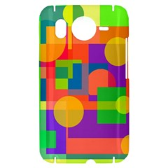 Colorful geometrical design HTC Desire HD Hardshell Case