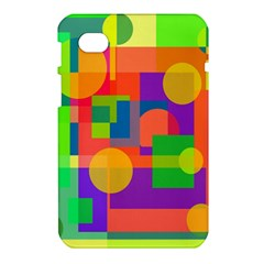 Colorful geometrical design Samsung Galaxy Tab 7  P1000 Hardshell Case