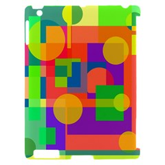 Colorful geometrical design Apple iPad 2 Hardshell Case (Compatible with Smart Cover)