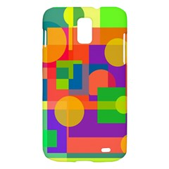 Colorful geometrical design Samsung Galaxy S II Skyrocket Hardshell Case