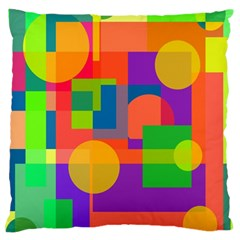Colorful geometrical design Large Cushion Case (Two Sides)
