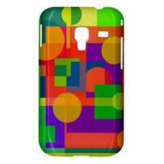 Colorful geometrical design Samsung Galaxy Ace Plus S7500 Hardshell Case
