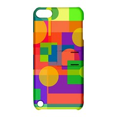 Colorful geometrical design Apple iPod Touch 5 Hardshell Case with Stand