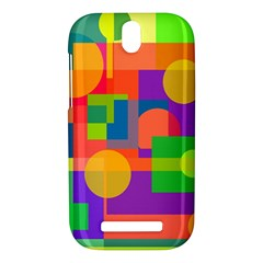 Colorful geometrical design HTC One SV Hardshell Case