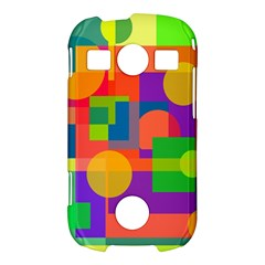 Colorful geometrical design Samsung Galaxy S7710 Xcover 2 Hardshell Case