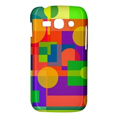 Colorful geometrical design Samsung Galaxy Ace 3 S7272 Hardshell Case